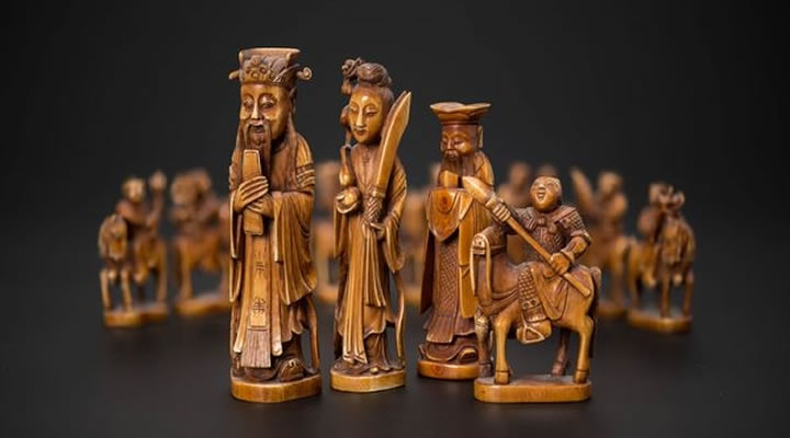 шахматы из Китая в Музее шахмат РШФ