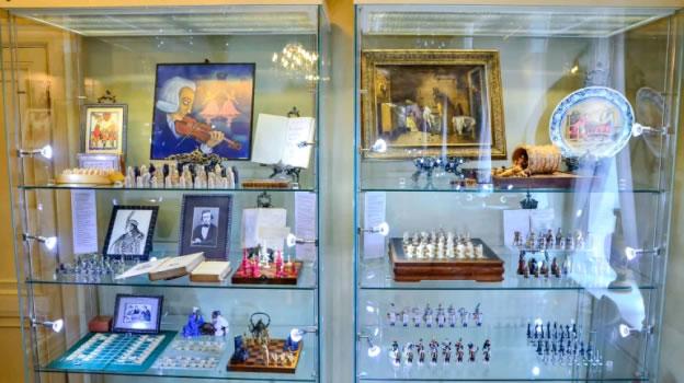 китайские шахматы сянци в Музее шахмат в Москве