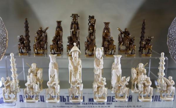 китайские шахматы от Мао Цзэдуна в Музее шахмат