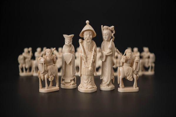 китайские шахматы из слоновой кости Цзэдуна в Музее шахмат