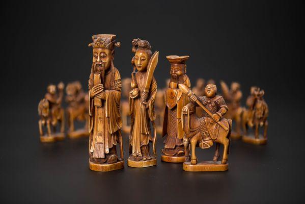 шахматы, сделанные в Китае, в Музее шахмат РШФ